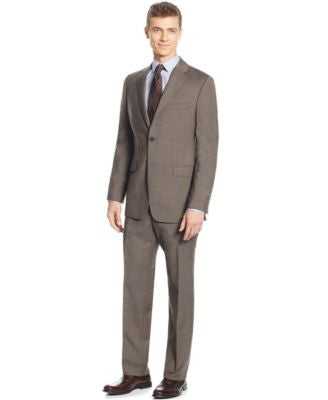 Lauren Ralph Lauren Slim-Fit Mid Brown Glenplaid Suit
