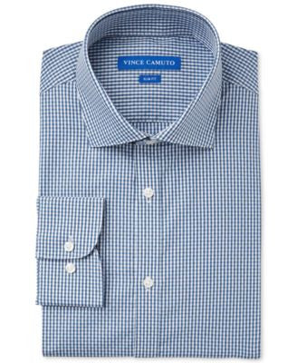 Vince Camuto Slim-Fit Dobby Check Dress Shirt