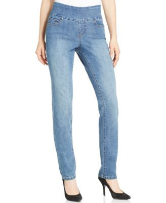JAG Malia Slim-Leg Pull-On Jeans, High Tide Wash
