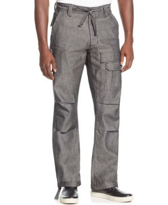 Sean John Men's Pleat Pocket Flight Cargo Pants