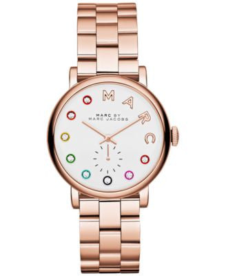Marc by Marc Jacobs Women's Baker Dexter Rose Gold-Tone Stainless Steel Bracelet Watch 36mm MBM3441