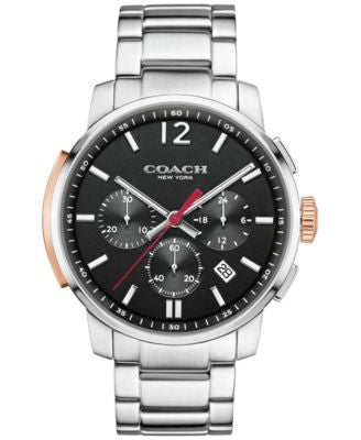 COACH MEN'S BLEECKER CHRONO STAINLESS STEEL BRACELET WATCH 42MM 14602009, Vogily EXCLUSIVE