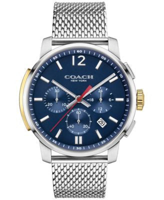 COACH MEN'S BLEECKER CHRONO STAINLESS STEEL MESH BRACELET WATCH 42MM 14602022, Vogily EXCLUSIVE