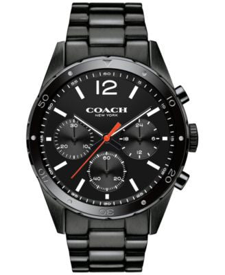 COACH MEN'S CHRONOGRAPH SULLIVAN SPORT BLACK ION-PLATED BRACELET WATCH 44MM 14602035, Vogily EXCLUSI