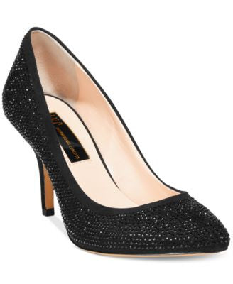 INC International Concepts Zitah Pointed Toe Rhinestone Evening Pumps