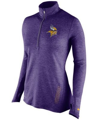 Nike Women's NFC North Stadium Element Quarter-Zip Pullover Collection