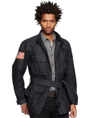 Denim & Supply Ralph Lauren Waxed-Cotton Moto Jacket