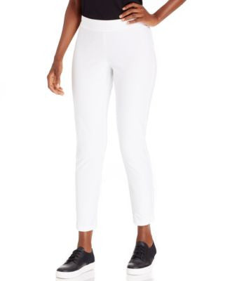 Eileen Fisher Petite Straight-Leg Pull-On Ankle Pants