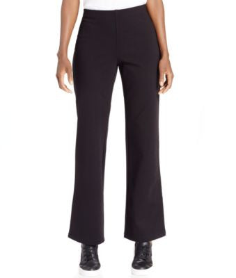 Eileen Fisher Straight-Leg Pull-On Ponte Pants