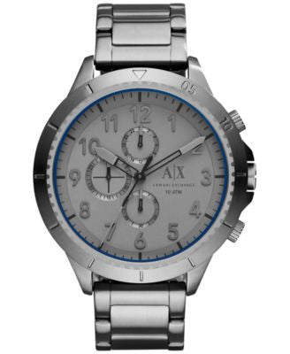 A|X Armani Exchange Men's Chronograph Gunmetal Ion-Plated Stainless Steel Bracelet Watch 50mm AX1753