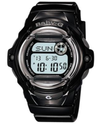 Baby-G Women's Digital Black Resin Strap Watch 46x43mm BG169R-1