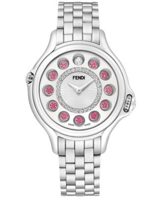 Fendi Timepieces Women's Swiss Crazy Carats Gemstone and Diamond (3 ct. t.w.) Stainless Steel Bracel