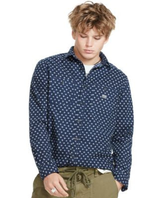 Denim & Supply Ralph Lauren Men's Floral Cotton Sport Shirt