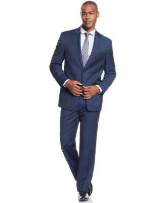 Shaquille O'Neal Collection Big and Tall Navy Solid Classic-Fit Suit Separates, Only at Vogily's