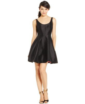 Betsy & Adam Petite Fit & Flare Dress