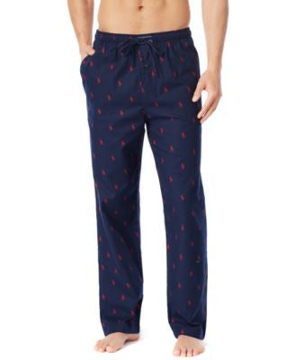 Polo Ralph Lauren Big and Tall Drawstring Pony-Print Flannel Pajama Pants