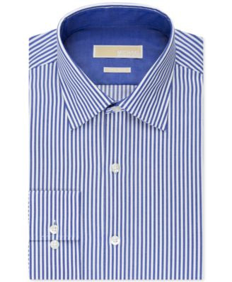 MICHAEL Michael Kors Men's Classic-Fit Non-Iron Bengal-Stripe Dress Shirt