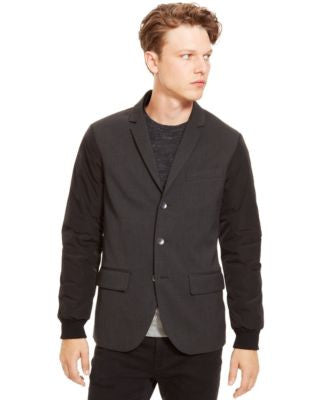 Kenneth Cole Reaction Nylon-Sleeve Three-Button Blazer