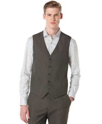 Big and Tall Perry Ellis Corded Twill Striped Suit Vest
