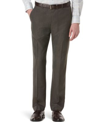 Big and Tall Perry Ellis Corded Twill Striped Flat-Front Dress Pants
