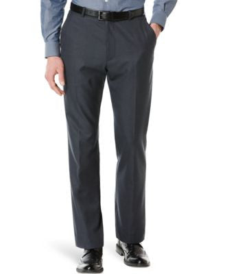 Big and Tall Perry Ellis Textured Flat-Front Dress Pants