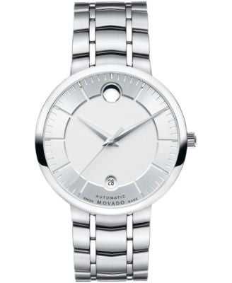 Movado Men's Swiss Automatic 1881 Automatic Stainless Steel Bracelet Watch 39mm 0606915