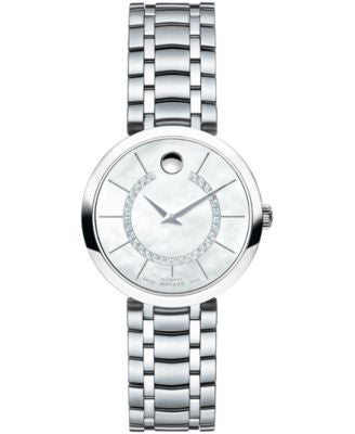 Movado Women's Swiss Automatic 1881 Automatic Diamond Accent Stainless Steel Bracelet Watch 27mm 060