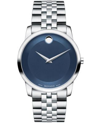 Movado Men's Swiss Museum Classic Stainless Steel Bracelet Watch 40mm 0606982