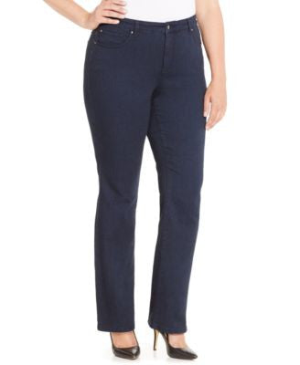 Charter Club Plus Size Lexington Tummy-Control Straight Leg Jeans, Only at Vogily
