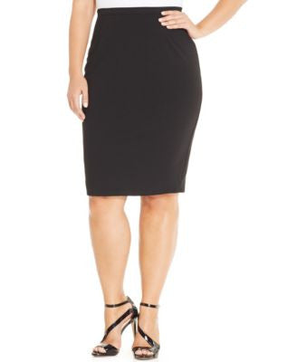 City Chic Plus Size Exposed Zipper Pencil Skirt