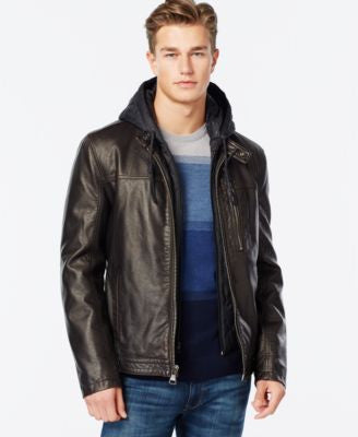 Marc New York Washington Faux-Leather Jacket