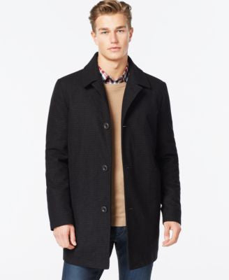 Kenneth Cole Wool-Blend Tweed Walker Coat