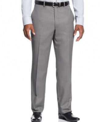 Shaquille O'Neal Collection Big and Tall Black and White Birdseye Classic-Fit Pants, Only at Vogily