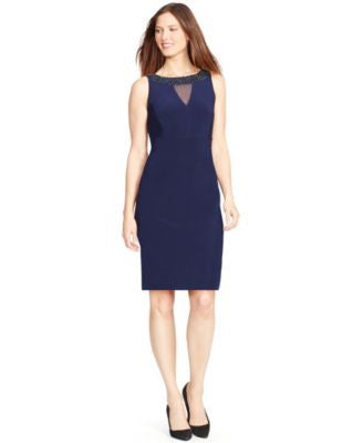 American Living Beaded Sleeveless Sheath Dress