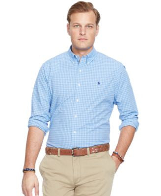 Polo Ralph Lauren Big and Tall Plaid Poplin Shirt