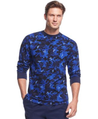 Polo Ralph Lauren Men's Camo Print Long-Sleeve Crew-Neck Waffle Thermal Top