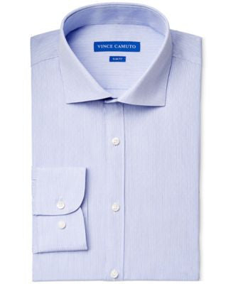 Vince Camuto Light Blue Diamond Dobby Stripe Dress Shirt