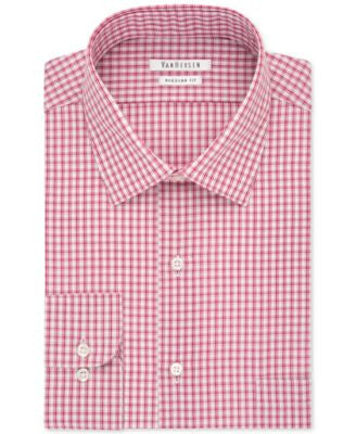 Van Heusen Red Check Dress Shirt