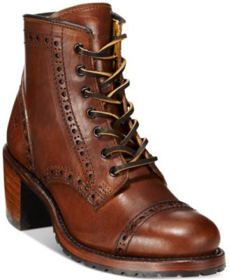 Frye Sabrina Brogue Booties
