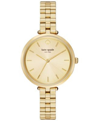 kate spade new york Women's Holland Gold-Tone Stainless Steel Bracelet Watch 34mm 1YRU0858