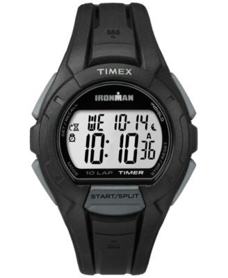 Timex Men's Digital Ironman Essential 10 Lap Black Resin Strap Watch 42mm TW5K94000UM