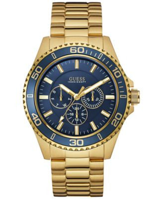 GUESS Men's Gold-Tone Steel Bracelet Watch 45mm U0172G5