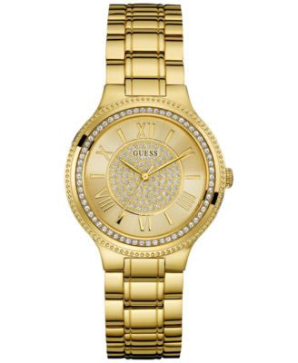 GUESS Women's Gold-Tone Steel Bracelet Watch 37mm U0637L2