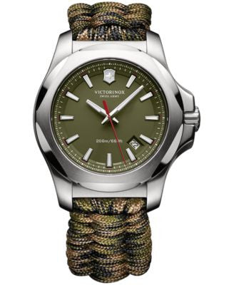 Victorinox Swiss Army Men's I.N.O.X. Green Paracord Strap Watch 43mm 241727.1