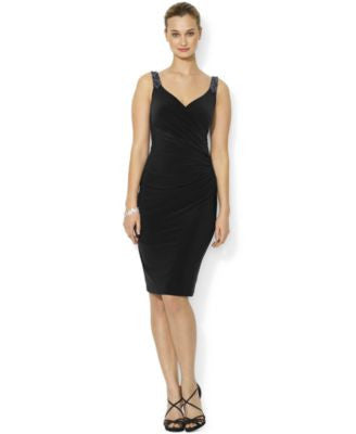 Lauren Ralph Lauren Beaded Sleeveless Sheath Dress