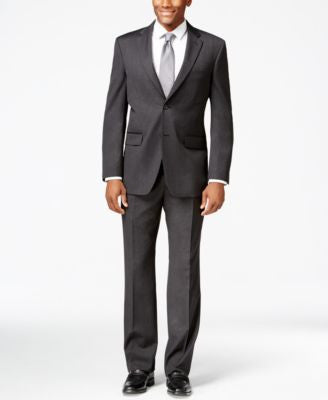Jones New York Charcoal Athletic-Fit Suit