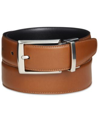 Perry Ellis Men's Leather Big & Tall Amigo Belt