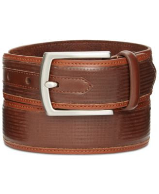 Tasso Elba 35mm Textured Inlay Belt, Only at Vogily
