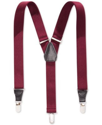 Club Room 25mm Skinny Solid Suspenders, Only at Vogily