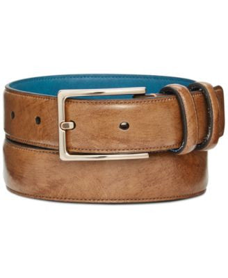 Ryan Seacrest Distinction 30mm Brushed Calf Dress Belt, Only at Vogily